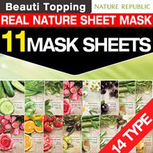 BEST MASK SHEET★Nature Republic★11 Sheehts★Real Nature Mask 14 Types(Aloe/Bamboo/Tea Tree/Rose/Olive