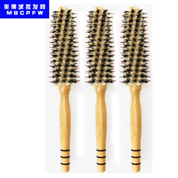 Curly Hair Comb High Quality Wood Handle Heat-resistant Roll Comb Hair Brush Fluffy Comb Hairdressin