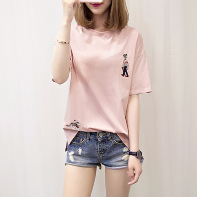 bee8bd46 Korean Summer Women/Girl Cute Casual short Sleeve T-shirt Loose Tee New  Cartoon