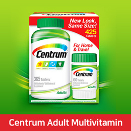 [Centrum Adult Multi vitamin 425 Tablets] 센트롬 성인용 멀티비타민 425정 /성인 공용 비타민