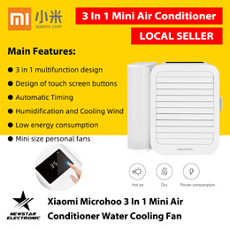 Xiaomi Microhoo 3 In 1 Mini Air Conditioner Water Cooling Fan * LOCAL SELLER