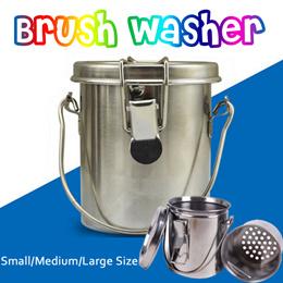 Brush Washer/Small Media Large Size brush washer/密闭型笔洗器/metal brush washers