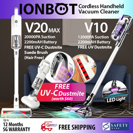 ★FREE UV Anti Dustmite!!!★IONBOT Cordless Handheld Wireless Vacuum Cleaner★V10/ V20★