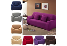 2017 Machine Washable Spandex Elasticity Couch Cover Sectional Sofa Furniture Slipcover Cover Pure C