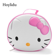 3D Cute Hello Kitty Women Cosmetic Bags for Makeup Bag Ladies Large Capacity Travel Make Up Box Toil