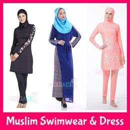 ★FREE Delivery★Muslim Swimming Costumes★Burqini Burkini★Plus Size★Long Dress Baju★Conservative