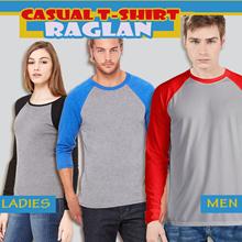 Mens Women Casual Raglan Fashion Long and short sleeve T-Shirt Sleeve