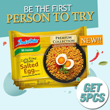 [GET 5 PCS] Indomie Salted Egg Premium collection fried noodle salted egg noodles