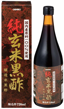 [Shipping from japan]Orihiro Pure brown rice black vinegar 720 ml