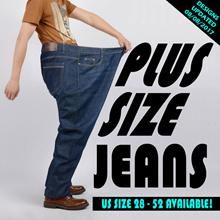 Mens Plus size Demin Jeans Pants Straight Comfortable Cut Supersizes trousers men long pants baggy