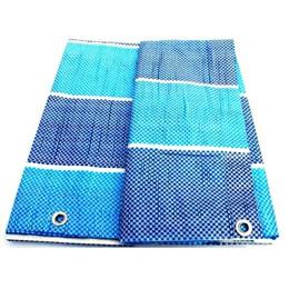 Heavy Duty Blue PE Tarpaulin Canvas Ground Sheet Waterproof Cover Camping Groundsheet Many Sizes