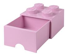 LEGO 4 - Stud Storage Brick Drawer: LIGHT PURPLE (LS-40051738)