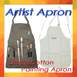 Apron/Artist Painting Apron/Adult Oil Painting and Acrylic Painting Apron/Linen Painting Apron