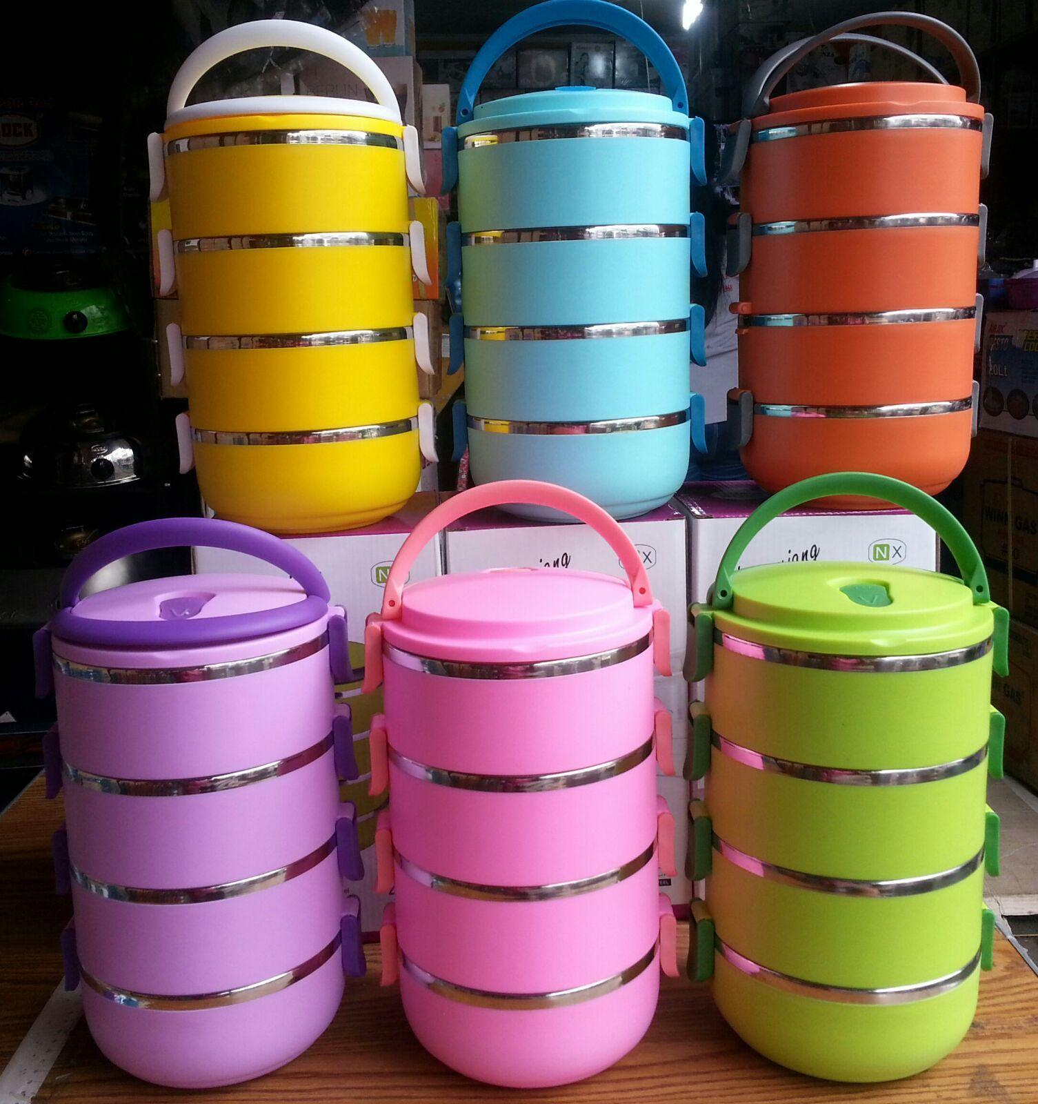 Qoo10 Re Stock Lunch Box Stainless Rantang Polos 3 Dan 4 Susun Dodawa Lihat Semua Gambar Barang