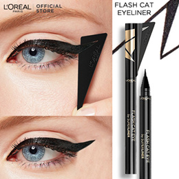 *NEW* LOreal Paris Flash Cat Eye Eyeliner + Removable Wing Stencil
