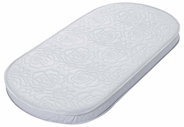 Big Oshi Waterproof Oval Baby Bassinet Mattress - Waterproof Exterior - Thick, Soft, Breathable Foam