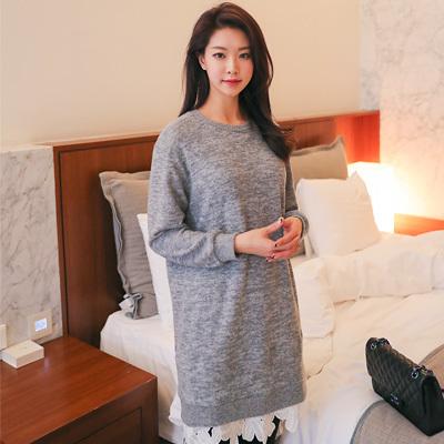 [SSophis] Double Lace Napping One piece / 韓国のファッションショップ/レース/ワンピース/ロング/ニット/フード/ドレス/ブラウス/カート/パンツ/カーディガ