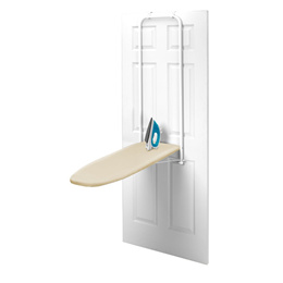 Homz HOMZ Over-the-Door Steel Top Ironing Board, Foldable, with Free Set of Dryer Balls Included