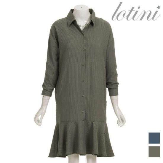 ロティニLOTINIライトST下のだんのフリルのワンピースLTHOP10 面ワンピース/ 韓国ファッション