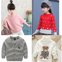 kids winter Sweater ladies underwear baby Cardigan children underwear top woollen Tops Bottoming BAS