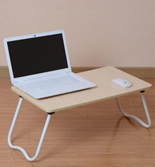 Dormitory bed with a laptop desk folding bed lazy small table desk study tables tuba