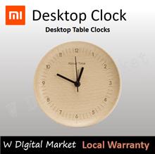 Xiaomi Mijia About Time Clock Beech Wooden Mute Desktop Table Clocks