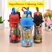 💖 SuperHero Color Pens/ Goodie Bags Children  Gifts/ School Present/ Coloring Marker 💖