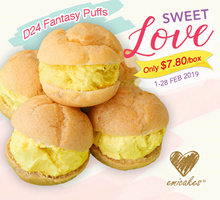 [Emicakes]  Box of 6 Pcs D24 Fantasy Puffs is back .Made with fresh D24 Durian