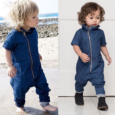 7da20ffcf775 Qoo10 - Fashion Denim Newborn Toddler Baby Boys Romper Bodysuit ...