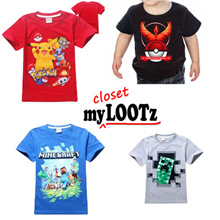 [Dec] Cartoon Tee for Kid/Boy/Girl/Ninjago/Minecraft/Ninja Turtle/Paw Patrol/Pokemon/Roblox/PJ Mask