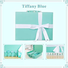 TOP Quality Tiffany Blue Mahjong set Top touch feeling Best Gift CHANE.L