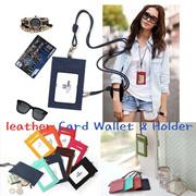 3169627bfa6 Group Buy Leather Card Wallet Card Holder Leather Card Holder ID Card Neck  Badge Holder Lanyard Neckstrap