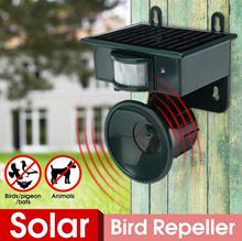 Outdoor Solar PIR Sensor Pest Repeller Animal Bats Bird Dogs Scarer Chaser (Color: Green)
