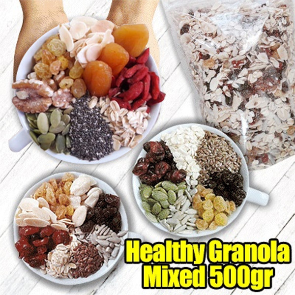 Healthy Granola Mixed A 500gr / Mixed B 500gr / Mixed C 500gr / Super Mixed 500Gr Deals for only Rp85.500 instead of Rp85.500