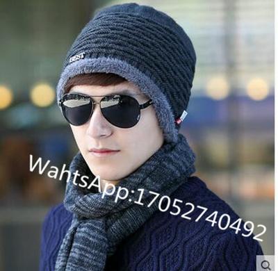 2f2eaf5a92e Korean mens hat autumn and winter days warm wool hat ear cap set of head men