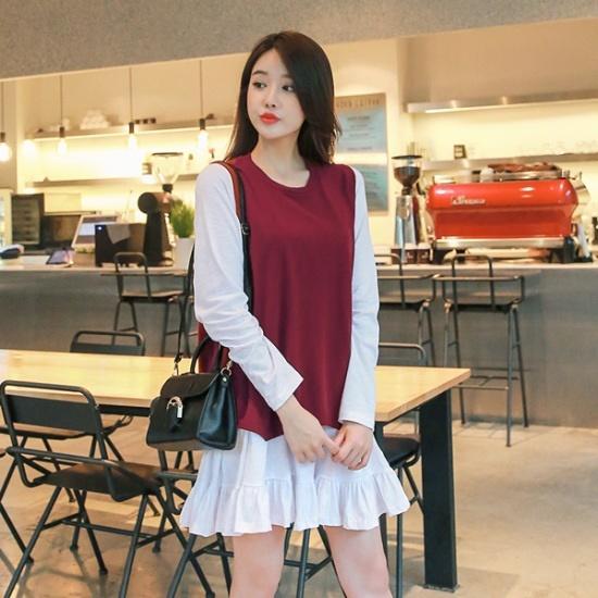 ジェイ・スタイルビックサイズベニジュニット・ワンピースセット 大きいサイズ/ワンピース/韓国ファッション