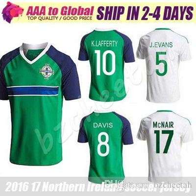 45ff2e5d5aa Northern Ireland soccer Jerseys 2016 green shirt 16 17 camiseta de futbol Northern  Ireland Football