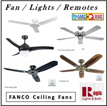 [Super FANS] Fanco Ceiling Fan FFM3000/FFM2000/FFM4000/FFM6000/ACON Light Kits+Remote+LED Bulb