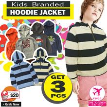 [ Get 3 PCS ] KIDS BRANDED HOODIES JUMPING BEANS | STIPE HOODIE JACKET