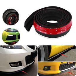 Universal Car Front Rear Side Bumper Lip Splitter Rubber Protector Body Spoiler Valance Chin Rubber