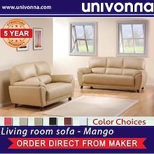MANGO ★ 3 Seater★ 2 seater leather sofa★Furniture★Living room sofa★Premium★Comfortable★Color Choices