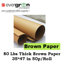 80 Lbs Thick Brown Paper 35*47 inch 50p/Roll
