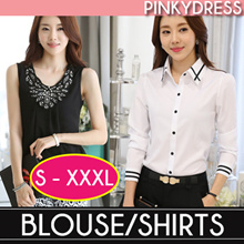♥In-Stock♥Good-quality Chiffon Blouse/Korean Styled Office Wear /Tops /Suit/lowest price/short sleev