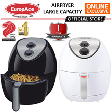 EuropAce Air Fryer 3.2L LARGE CAPACITY with 1 Year Warranty / Also available in 2.8L / 3.5L(XL)
