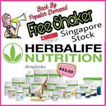 FREE Spoon/FREE Shaker/SINGAPORE STOCK/Authentic HERBALIFE shake/Low GI/Tea/Protein Powder/Aloe