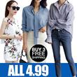 Clearance sale 4.99!!! FLAT PRICE!2018 S-7XL NEW PLUS SIZE TOP DENIM FORMAL DRESS OL