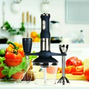 DIN KUM 900-Watt Multi-Purpose Hand Food Processor Blender Set - Deep Blue (AC 220-240V) (Size: 1, C