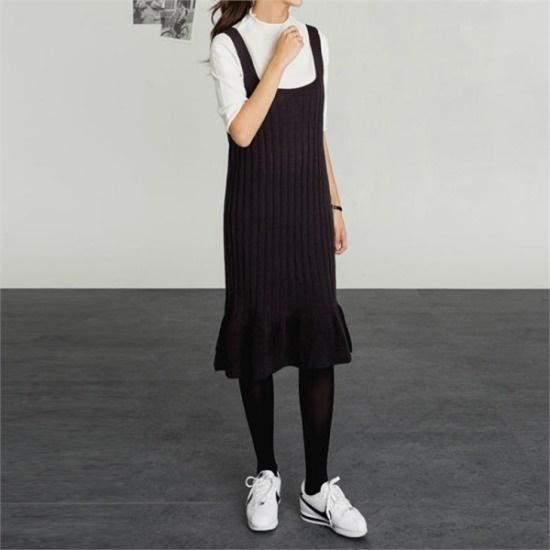 普通の1日のニット・ワンピースnew ニットワンピース/ワンピース/韓国ファッション