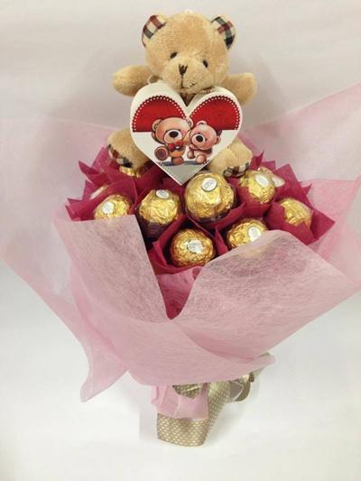 Qoo10 Chocolate Bouquet Valentines Bouquet Valentine Gift Cheap
