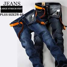 3c2dac0b063c Stretch Jeans for Men Denim Jeans Trousers Plus Size Big Large Pants 28 -48